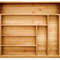 Totally Bamboo Expandable Utility Drawer Organizer