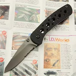 Serrated Tactical Survival Rescue Camping Hunting Folding Sharp Clip Knife Glby6612-6.81''