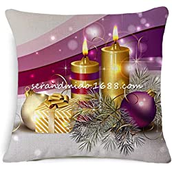 Pillowcase, Ammazona Square Festival Decoration Merry Christmas Pillow Case Cushion Cover (A)