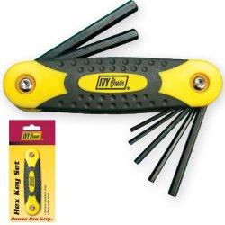 Hex Key Wrench - 9Pc. Folding Hex Key Set - Ivy Classic 17002