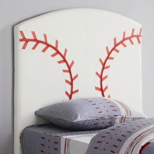 Image of Twin Size Kid Headboard with Baseball Design (VF_460167)