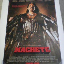 Machete Movie Poster 1 Sided Original 27X40 Danny Trejo Jessica Alba