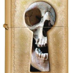 Zippo Keyhole Skull Windproof Lighter, Gold Dust