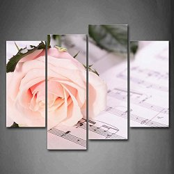 A Field Full Of White And Red Small Flowers Wall Art Painting Pictures Print On Canvas Flower The Picture For Home Modern Decoration