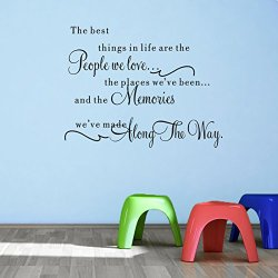 Top-Me Vinyl Wall Decal The Best Things In Life Are The People We Love, The Places We'Ve Been, And The Memories We'Ve Made - Tm8297