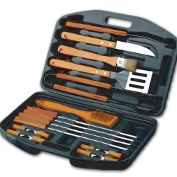 Chefs Basics Hw5231 18-Piece Stainless-Steel Barbecue Set With Carrying Case