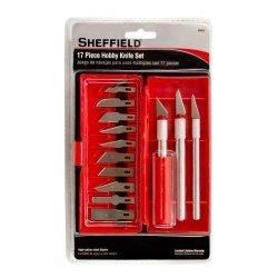 Sheffield Tools 60003 Hobby Knife Set, 17-Piece