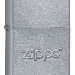 Zippo Stamped Street Chrome Pocket Lighter