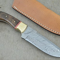 "Christmas Gift By Leather-N-Dagger | Professional High Quality Custom Handmade Damascus Steel Model-Year 2015 9.25"" Hunting Knife (100% Satisfaction Guaranteed) Great Gift Ld204"