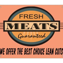 Butcher Shop Fresh Meat Sign / Retaurant Deli Kitchen Vintage Retro Wall Decor 050