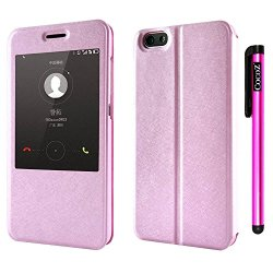 Cocoz® Huawei Honor 4X Case Magnetic Closure Pu Fashion Window Mode Premium Daytona Skin Stand Classic Multifunction Folio Case With For Huawei Honor 4X (Pink)