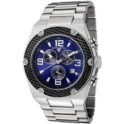 Swiss Legend Men'S 40025-33 Throttle Analog Display Swiss Quartz Silver Watch