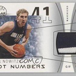 Dirk Nowitzki #6/41 Dallas Mavericks (Basketball Card) 2003-04 Flair Final Edition Hot Numbers Jerseys Gold Jersey Number Patch #Hn-Dn