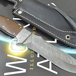 Coldland Knives | Christmas Gift Premium Quality Retail More Than 400$ Special Offer Custom Handmade Damascus Steel Hunting Knife With Exotic Stabilized Wood K02