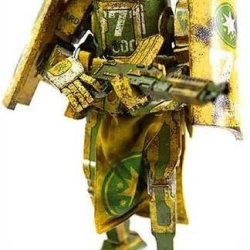"Threea Toys Caesar Aus Republic ""World War Robot"" Action Figure"