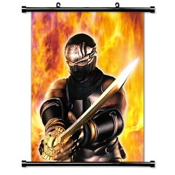 """Ninja Gaiden Videogame Fabric Wall Scroll Poster (16"""" X 20"""") Inches"""