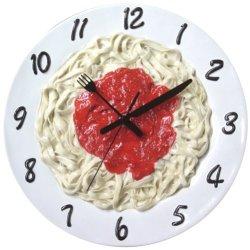 Funcy Linguine With Marinara Sauce Clock[1990Pasta]