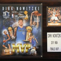 Nba Dallas Mavericks Dirk Nowitzki 2011 Nba Finals Mvp Plaque