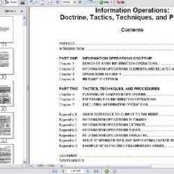 Us Army Information Operations: Doctrine, Tactics, Techniques, And Procedures, Fm 3-13, Fm 100-6