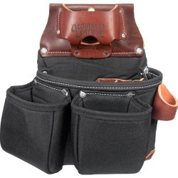 Occidental Leather B8018Db Oxylights 3 Pouch Tool Bag, Black