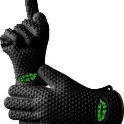 The Best Silicone Heat Resistant Grilling Bbq Glove Set - Great For Use In Kitchen Handling All High Temperature Food - Use As Potholder - Protective Oven, Grill, Baking, Smoking And Cooking Gloves - 10 Fingers Easier To Handle Hot Food Than Mitts! The Or