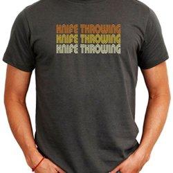 Knife Throwing Retro Color Men T-Shirt