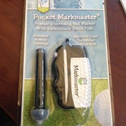 Pocket Markmaster - Power Dispensing Ball Marker W/ Switchblade Divot Fork