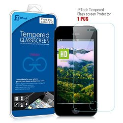 Iphone 5S Screen Protector, Jetech® Premium Tempered Glass Screen Protector For Iphone 5, Iphone 5S, And Iphone 5C