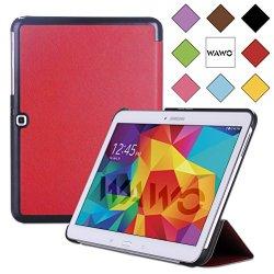 Wawo Samsung Galaxy Tab 4 10.1 Inch Tablet Smart Cover Creative Fold Case - Red