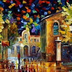 Fine Art Painting Superb Quality And Craftsmanship On Canvas Palette Knife Midnight Wonders 36 X 20 In Unframed