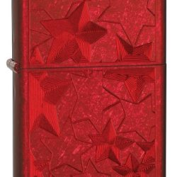 Zippo Candy Iced Stars Lighter (Apple Red, 5 1/2X3 1/2-Cm)