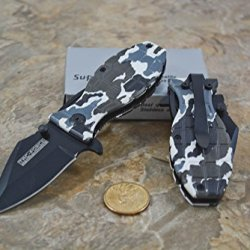 Tac Force White Camo Grenade Knife