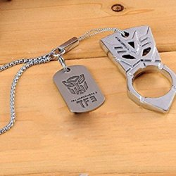 Decepticons Double-Sided Three-Dimensional Version Keychain Sdf Emergency Survival Tool. A Finger Grip