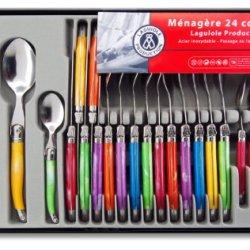Laguiole Production 24-Piece Handle Set, Multicolor