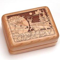 "3X4"" Box With Money Clip/Pocket Knife - Deer/Bucks"