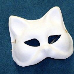 B50507 Paper Mache Blank Cat Mask