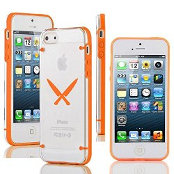 "Apple Iphone 6 (4.7"") Ultra Thin Transparent Clear Hard Tpu Case Cover Chef Knives (Orange)"