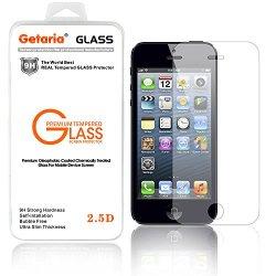 Iphone 5 Screen Protector,Ultimate Premium Tempered Glass Screen Protector For Iphone5S / Iphone 5C / Iphone 5