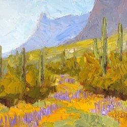 Picacho Peak In Bloom