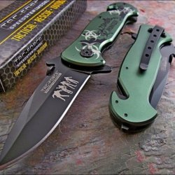 Tac-Force Green Zombie Hunter Glass Breaker Rescue Knife