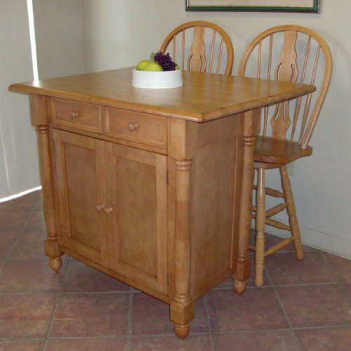 Image of Drop Leaf Kitchen Island (DLU-KI-4222-BCH)