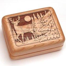"3X4"" Box With Money Clip/Pocket Knife - Deer"