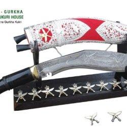 """Genuine Gurkha Kukri Knife - 11"""" Royal Gurkha Rifles Kothimora Khukuri- Silver Case Khukris By Ex Gurkha Khukuri House In Nepal"""