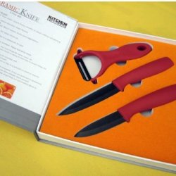 New Arrival! Gift 3,4 Inch Ceramic Knife + Peeler Chef Kitchen Ceramic Knife By Coolshiny