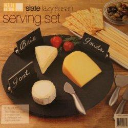 Slate Lazy Susan Serving Set