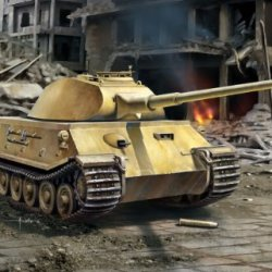 Dragon Models Vk.45.02(P)V Armor Pro Series Tank Model Building Kit, 1:72 Scale