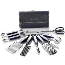 Wolfgang Puck 12 Pc Garnish Essentials Set With Storage Case (Black)