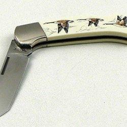 Scrimshaw By Sabre Duck Pocket Knife