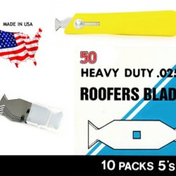 50Pc Roofers Blades Butterfly Kit/ Blades And 1 Knife