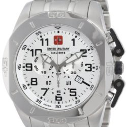Swiss Military Calibre Men'S 06-5D1-04-001 Defender Chronograph Stainless Steel Watch